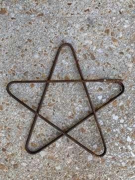 Estrella en hierro