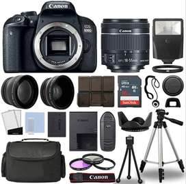 Camara Canon 800d / T7i Con Lente 18-55mm Y Kit Accesorios