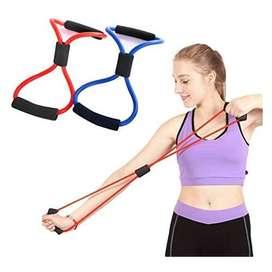 Banda Elástica Resistencia Tubular Forma 8 Yoga Fitness Gym