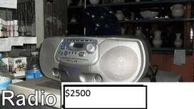 grabador philips con cd y reproductor de cassetes y mp3