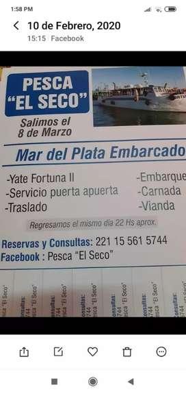 """Pesca embarcado """"El Seco"""""""