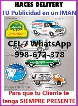 Publicidad en IMANES para tu negocio, usado segunda mano  Perú