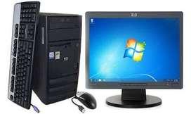 Cpu y computadora core 2 quad 2.4ghz 4 NUCLEOS /2gb ram/ HD 160gb/dvd OBSEQUIO WIFI GARANTIA 1 AÑO CEL 97187606O /$$//