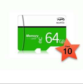 Memoria Micro Sd De 64 Gb New Print Clase 10 Original