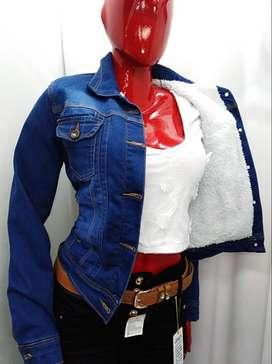 Chaqueta de jeans ovejero de mujer