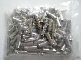Conectores Para Grimpear RG6 Cable Coaxial Bolsa 100 Unidades
