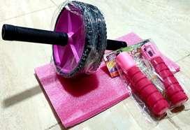 Kit de rueda tapete y lazo con contador de saltos
