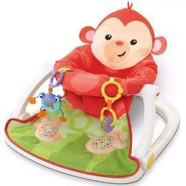 Silla comedor y mecedora de bebe con juguete sonoro