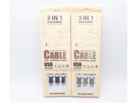 Cable Carga Rápida Datos Pulpo 3 En 1 Micro Usb (V8), Tipo C, Iphone
