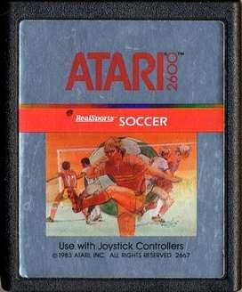 Juego Original Atari 2600 Realsports Soccer Cx2667 100
