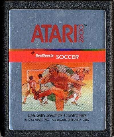 Juego Original Atari 2600 Realsports Soccer Cx2667 100 0