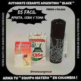 NOVEDAD! EQUIPO MATERO ARGENTINO! AUTOMATE CEBANTE, YERBA CBS SABOR HIERBAS SERRANAS y DE REGALO FILTRO DE BOMBILLA!