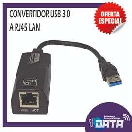CONVERTIDOR USB 3.0 A RJ45 LAN
