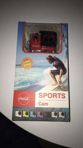 Vendo cámara deportiva (version coca-cola)