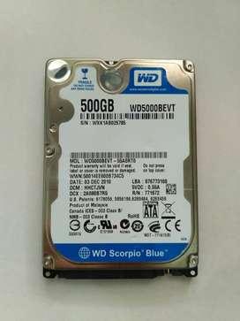 Disco duro Western Digital para portatil 500GB