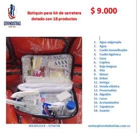 BOTIQUIN DE 18 PRODUCTOS PARA KIT DE CARRETERA