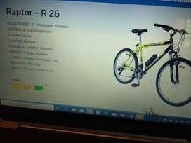 vendo bicicleta Tomaselli con 21 velocidades shimano