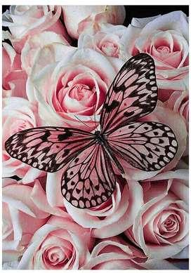 Kit Diamond Painting Mariposa Rosas