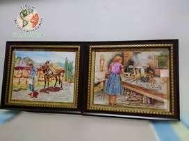 Cuadros decorativos, temática del campo - 24 cm x 20 cm