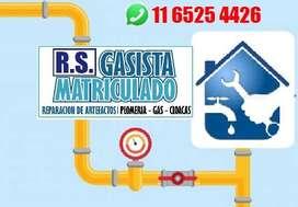 GASISTA MATRICULADO - PLOMERIA