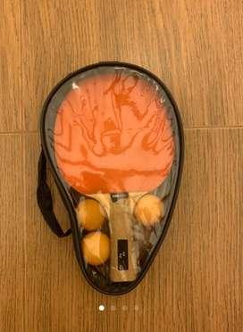 Raquetas de ping pong con estuche y bolas