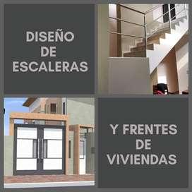 Plano y construcción de viviendas.