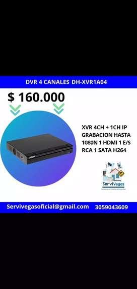 DVR 4 canales Pentahibrido Dahua