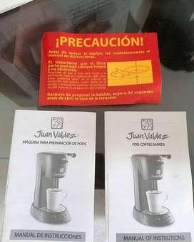 OFERTON  #LineaCocina  Pods coffee maker., máquina de pods(cafetera) Juan Valdez en perfecto estado (nueva), con todos