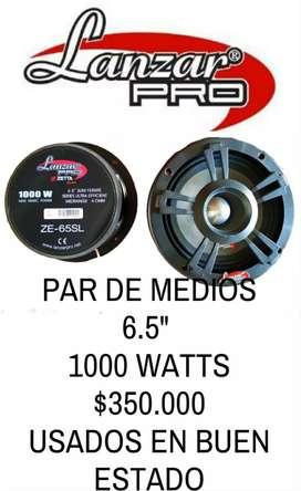 Medios lanzar pro 6.5  1000 watts