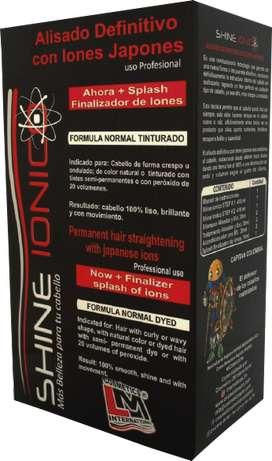 Alisadora Japonés Con Iones Negativos Shine Ionico Lm X410ml