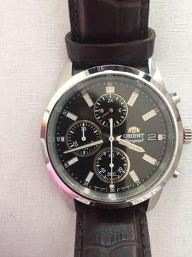 Reloj Orient Original con Correa de cuero café