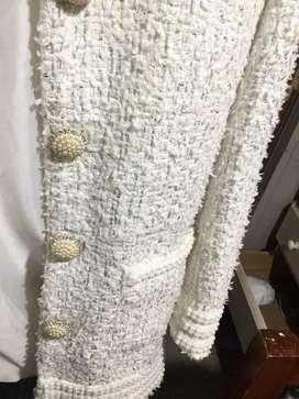 Saco largo con botones importado, moda Asiatica, koreana