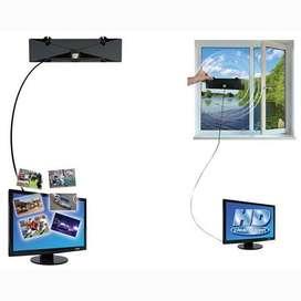 Antena TV interior  digital 1080hp HDTV, HD,VHF, UHF, FM. Plana.(BC Master).