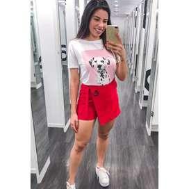 Conjunto falda short + blusa