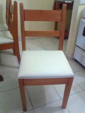 Liquido 4 sillas Tapizadas Nuevas en Algarrobo Seleccionado