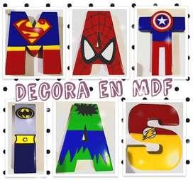 Letras nombres MDF Trupan