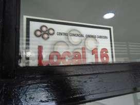 COD 6489 SE ARRIENDA LOCAL EN CENTRO COMERCIAL CINEMAS CABECERA