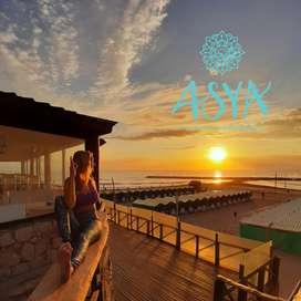 Clases presenciales de Yoga y Meditación frente al mar