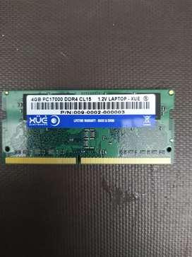 Memoria Ram 4 Gb ddr4 para portátil
