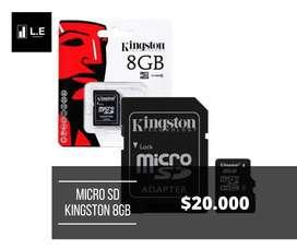 MICRO SD KINGSTON 8GB