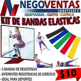 KIT DE BANDAS ELASTICAS EN DESCUENTO EXCLUSIVO DE NEGOVENTAS