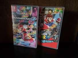 Cartuchos de para Nintendo switch de super Mario Odyssey y Mario kart 8 deluxe