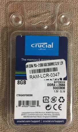 """Memoria """"Crucial"""" DDR4 de 8 GB para portatil"""