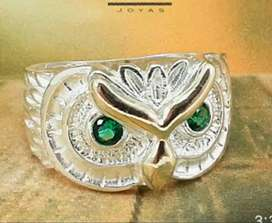 Hermosos anillos de caballero en plata oro garantizada ley 925