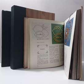 Libros de Bordado, tejido, crochet, 1460 páginas, usados