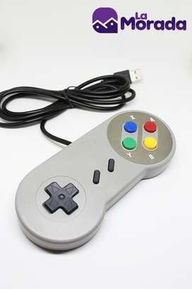 Control Super Nintendo Usb Para PC y Mac.obsequiamos biblioteca con mas de 700 juegos