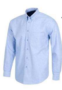 camisa tipo oxford color azul