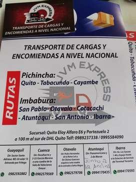 TRANSPORTE DE CARGAS Y ENCOMIENDAS A NIVEL NACIONAL
