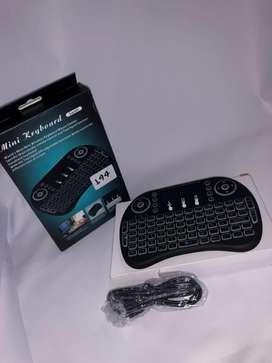 Mini teclado inalambrico Airmouse Android Smart Tv Iluminado