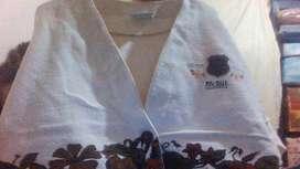 campera dama algodon marca PINBALL California talle M color natural